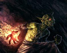 Goblin fire warlock, Ramón I. Bunge on ArtStation at https://www.artstation.com/artwork/kaZvK