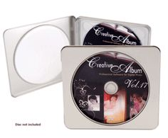 CD-DVD Metal Tin Case Square with Round Window