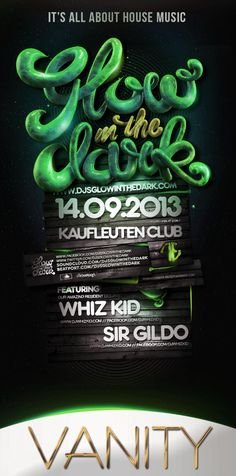 Glow In The Dark Flyer #flyer How did they make their type look like that?