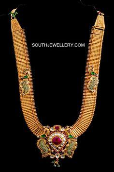 Gold Jewelry With Price Indian Wedding Jewelry, Indian Jewelry, Bridal Jewellery, Cz Jewellery, Temple Jewellery, Antique Jewellery, Jewelry Bracelets, Gold Jewelry Simple, Stylish Jewelry