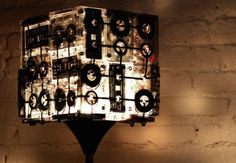 Upcycled Cassette Tape Lamp Shade