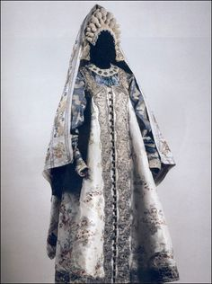 Wedding costume of a well-to-do woman. Russians. Pskov Province. Late 18th - early 19th centuries