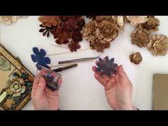 How To: Tutorial on Handmade Paper Gardenia Flowers - YouTube