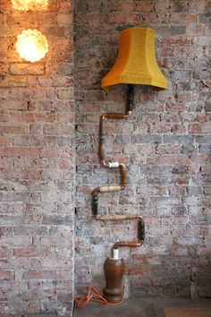 Furniture Magpies | Climbing Wall Lamp - made from recycled parts