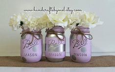 Check out this item in my Etsy shop https://www.etsy.com/listing/517245716/lilac-silver-mason-jar-decor-polka-dot