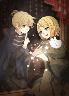 Len & Rin magic mirror/mirrors magic. Those two songs would have to be my favorite (besides SoE) that they sing. I love them sooo much!