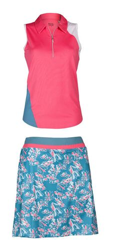 Jump Start (Indigo Frost/Pink) Bette & Court/Swing Ladies & Plus Size Golf Outfit at #lorisgolfshoppe