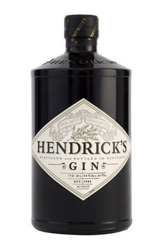 """Hendrick's Gin: A dark, squat, apothecary-influenced bottle bearing the warning: """"It is not for everyone. Please enjoy the unusual responsibly."""" Quirky Scottish charm at its best."""