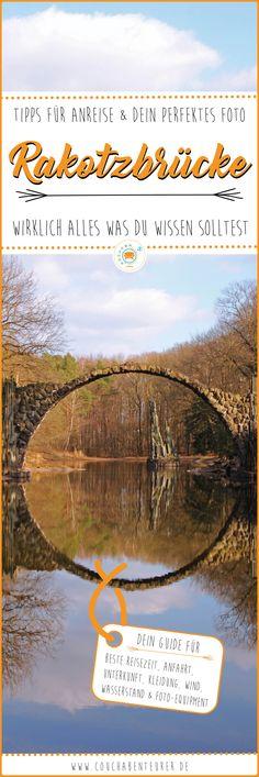 Hier findest du fundierte Tipps zum Fotografieren der Rakotzbrücke von Ausrüstung, bester Reisezeit, Wasserstand, Spiegelung, Wettereinflüssen & Unterkunft.