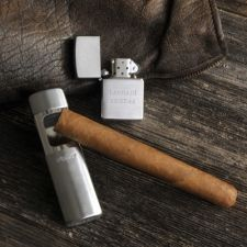 On-the-Go Zipppo Lighter with Portable Ash Tray