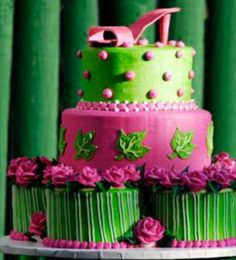 657a1578aeebe3ff60b5cf4f79bc0006 high heel cakes shoe cakes pink and lime green martini cake from cakecentral com cakes