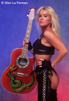 Lita Ford Red Guitar