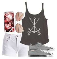 """""""Won first softball tournament game"""" by melw44 ❤ liked on Polyvore featuring Barbour International, Billabong, Converse and H&M"""