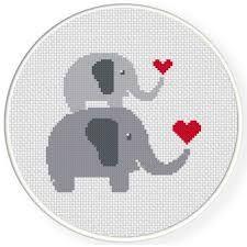 Resultado de imagen de free baby elephant cross stitch pattern