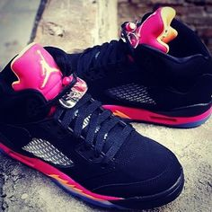 best service 50c75 01fe6 Air Jordan V Retro GS - Black - Bright Citrus - Fusion Pink -  SneakerNews.com