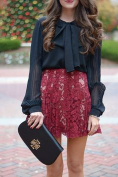 Attach a bow to any top to automatically dress it up
