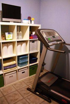 Workout room organization
