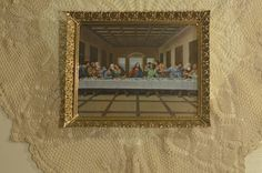 Vintage Framed Last Supper by TatteredPalace on Etsy (null)