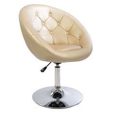 Antoinette Round Tufted Vanity Chair