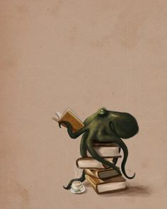 Well Read Octopus by Rebecca Flaum found on inprnt.com