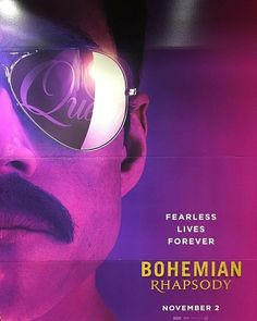 First poster for Bohemian Rhapsody. Queen