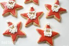 Santa Star Cookies -  yummy and fun treats!