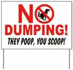 They poop, you scoop!