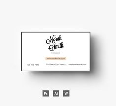 Awesome business card template by Emily's ART Boutique  on Creative Market
