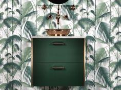 meuble de salle de bains Ikea customisé