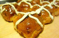 Chocolate Orange Hot Cross Buns | A Spoonful Of Sugar blog