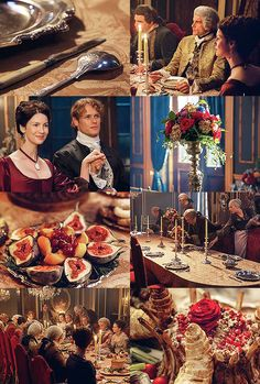"nordic-sassenach: "" ""Outlander Season 2 / Dragonfly in Amber Dining with members of the French aristocracy and bourgeoisie "" """