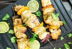 Cilantro Lime Chicken Kabobs with a marinade of fresh lime, cilantro, and garlic.