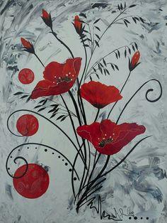 """""""Volupté"""" Peinture acrylique sur toile 55x70 By Raffin Christine Facebook : L'étoile de Chris"""