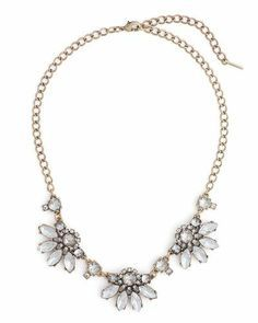 "Cute crystal necklace perfect for weddings or really ""dressy"" occasions."