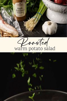 This warm Roasted Potato Salad is not only great for your next potluck or cook out, but it's perfect for a simple dinner. Not your Mom's potato salad, but possibly better. Roasted Potato Salads, Warm Potato Salads, Roasted Potatoes, Bacon Recipes, Potato Recipes, Salad Recipes, Maple Balsamic Dressing, Moore Kitchen, Parsley Potatoes