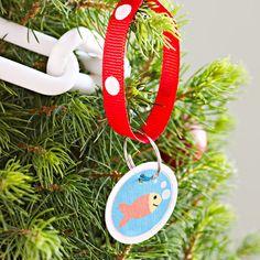 Christmas tree fish ornament