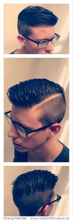 Daring men's cut! A bitt hipster but still cool.