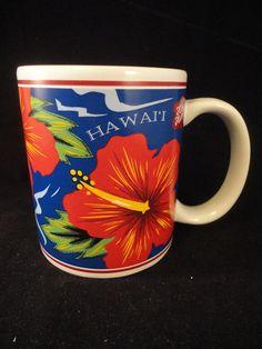Hawaiian Mug Hibiscus Hilo Hattie The Store of Hawaii Surf VW Tiki