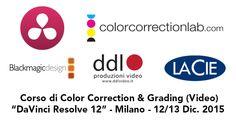 Corso a Milano su DaVinci Resolve 12