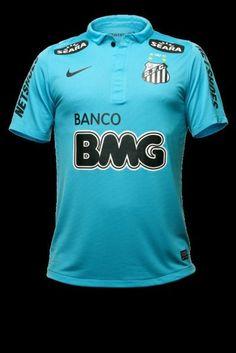 Santos FC (uniforme 3 2012) /// futebol, football, alvi negro, SFC, azul, shirt, soccer, calcio, brazilian, time, club, brasil, brazil, pelé, neymar.