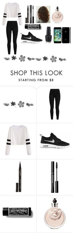 """Untitled #148"" by mimicmyhowl on Polyvore featuring Levi's, NIKE, Smith & Cult and OPI"