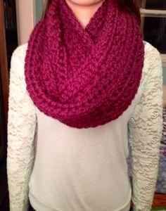 Fuzzy crochet scarf!!