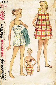 Mode Vintage Illustration, Retro Fashion, Vintage Fashion, Old Dresses, Artwork Ideas, Splish Splash, Aphrodite, Pose Reference, Vintage Sewing Patterns