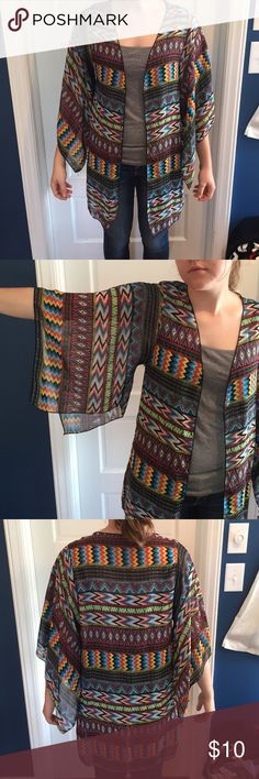 Kimono Patterned kimono with bright colors Body Central Other