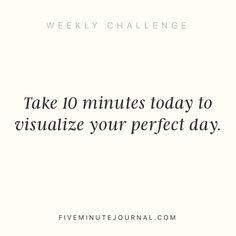 I like a challenge @5minutejournal