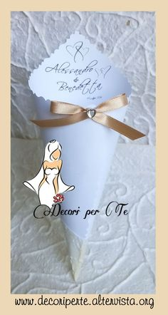 COUNTRY CHIC coni riso - COUNTRY CHIC wedding cones -