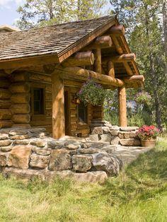 Rustic log home.