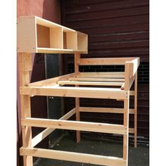 heavy duty solid wood loft bed lbs wt by