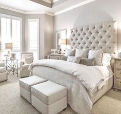 Phenomenal Remodel bedroom into closet,Bedroom designs luxury and Small bedroom decorating ideas images. Master Bedroom Design, Bedroom Inspo, Dream Bedroom, Home Bedroom, Girls Bedroom, Bedroom Designs, Bedroom Styles, Taupe Bedroom, Bed Designs