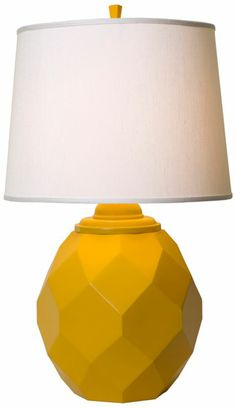Thumprints Jewel Modern Yellow Metal Table Lamp - #EU2C727 - Euro Style Lighting